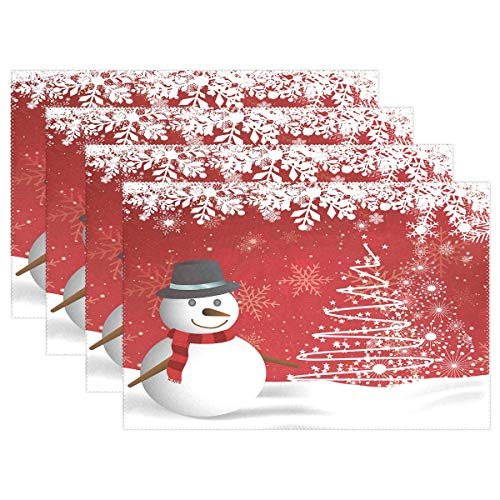 How to find the best snowman placemats set of 6 for 2019?
