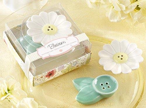 Blossom Ceramic Salt & Pepper Shakers Set of 12