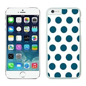 BINGO best quality Polka Dot White and Dark Green iPhone 6 plus Case white covers