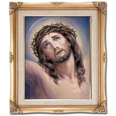 Head of Christ Framed Art by Discount Catholic Store
