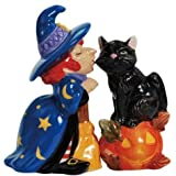 Westland Giftware Witch Kissing Cat Salt and Pepper Shakers