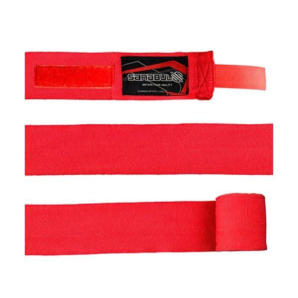 Sanabul Elastic Professional 180 inch Handwraps for Boxing Kickboxing Muay Thai MMA 4