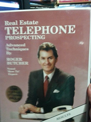 Real Estate Telephone Prospecting, Advanced Techniques (Book and 8 Audio Cassette Tape Set) (Roger Butcher Real Estate compare prices)