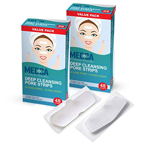Deep Cleansing Blackhead Pore Strips - Pack of 96 Peel - Off Blackhead Remover and Pore Unclogging Strips for Nose and Face, Chin, Forehead & Healthier Looking Skin (Blackhead Removing Strips)