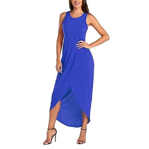 594b9613134 Aurorax Womens Sexy Loose Summer Sleeveless Long Dress