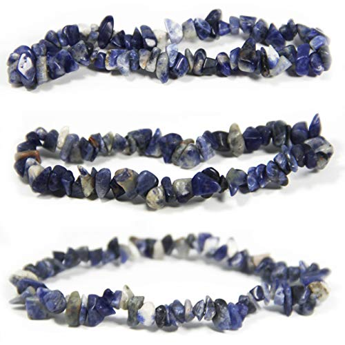 Bravelets Sodalite Gemstone Stretch Bracelet. Inspirational or Get Well Soon Gifts for Women. Natural Healing Crystals. Blue for Down Syndrome, Dysautonomia, Colon Cancer Awareness and More!