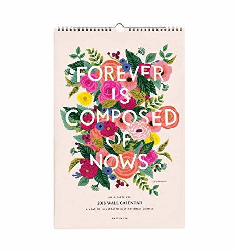 Rifle Paper CAL035 2018 Inspirational Quotes Calendar (Rifle Paper Calendar)