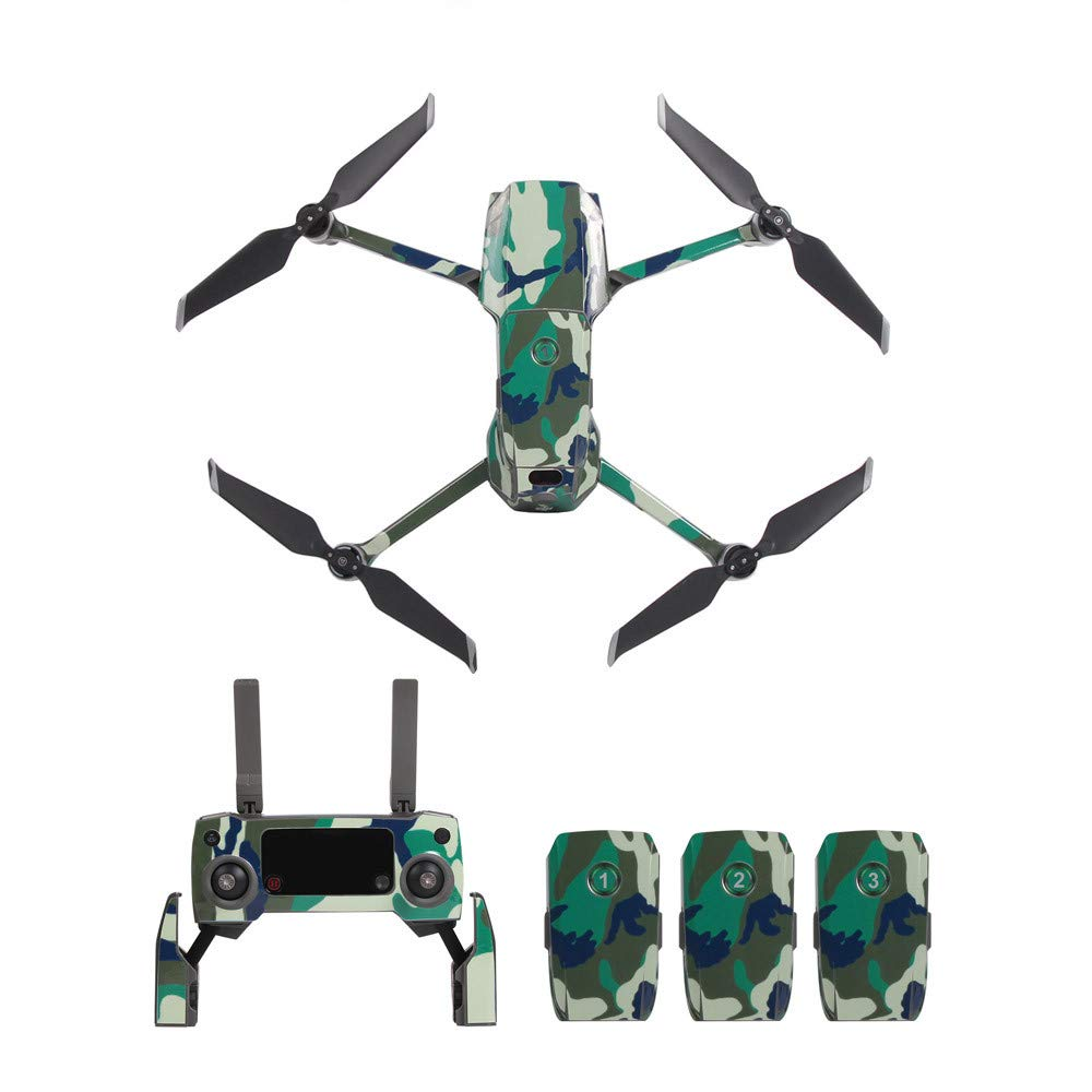 Skin for DJI Mavic 2 Zoom/Pro Quadcopter Drone -Waterproof PVC Skin Decals Mavic 2 Drone Sticker Set, Durable, and Unique Vinyl Decal wrap Cover | Easy to Apply, Remove, and Change Styles (J) Sandistore Sport