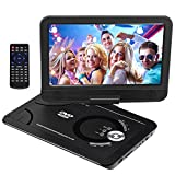 DVD Player 11.5'' Portable DVD Player for Car for Kids with Swivel Screen Rechargeable Battery, Car DVD Player with SD Card Slot and USB Port