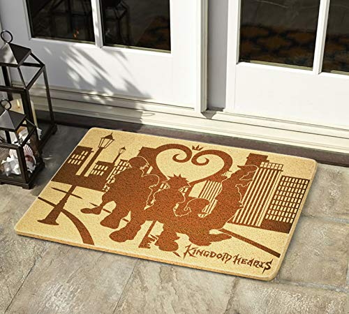 (Gifts and Crafts Store Kingdom Hearts 24x16 inch Doormat for Shoes Inside Outside Rubber Porch Mat Housewarming Birthday Holiday Congratulation Gift for Men Women Best Friend Neighbors)
