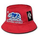 WHANG California Republic Bear Sombrero de Pescador