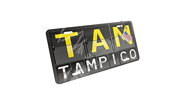 Amazon.com: Metal License Plate TAM Airport Code for Tampico ...