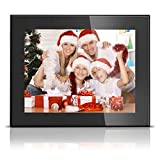 BSIMB Digital Picture Frame Digital Photo Frame 8 Inch 1024x768(4:3) LED HD Video Digital Slideshow Picture Frame Electronic Picture Frames with Remote Control M03 (Black)