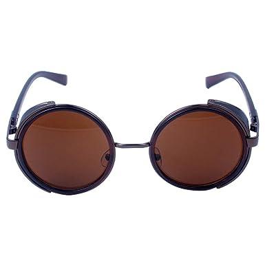 fiosoji Accesorios Gafas de sol redondo de metal de Viajes ...