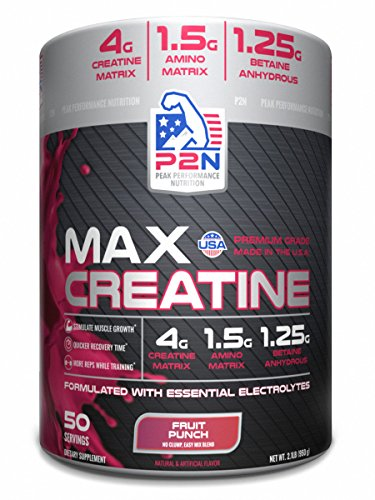 P2N Peak Performance Nutrition P2N Creatine, Fruit Punch, 2.1 Pound
