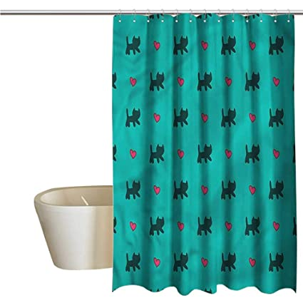 Shower Curtains That Open In The Middle.Amazon Com Shower Curtains That Open In The Middle Teal