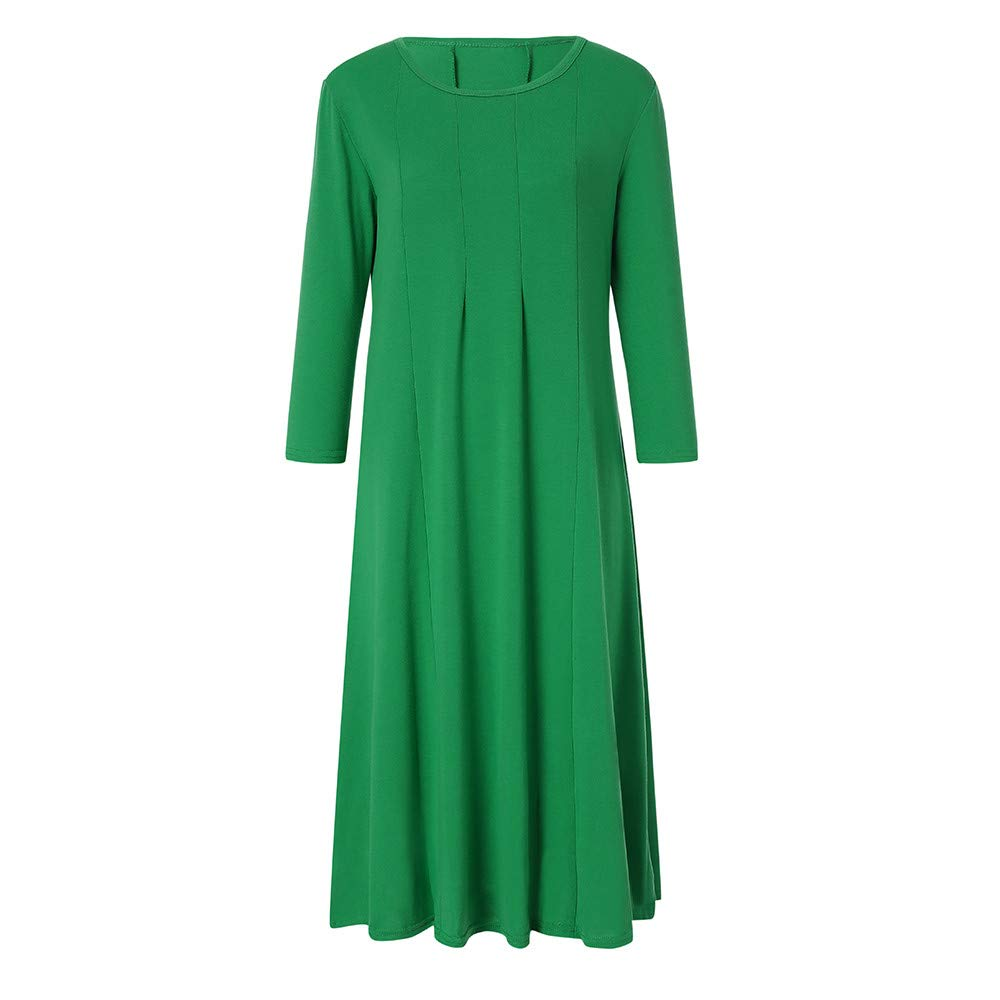 Ladies Evening Long Maxi Dress Army Green Multi-Code Womens Casual 3//4 Sleeve Loose Dresses TOTOD Dress Clearance