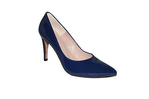Salón Spay 8 es Zapato Amazon Goma Charol Tacón Estiletti Zapatos IUn75xqg