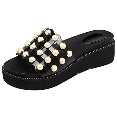 VulusValas Damen Sommer Pantoletten Schuhe