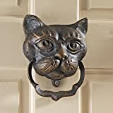 Design Toscano Black Cat Iron Door Knocker