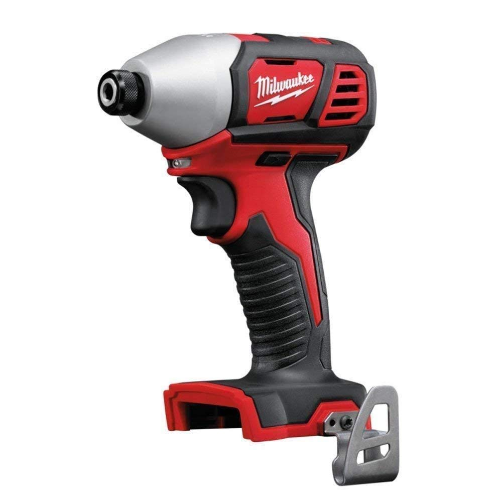 Milwaukee M18BID-0 18v 180Nm 1//4in Compact Hex Impact Driver with 5.0Ah Battery
