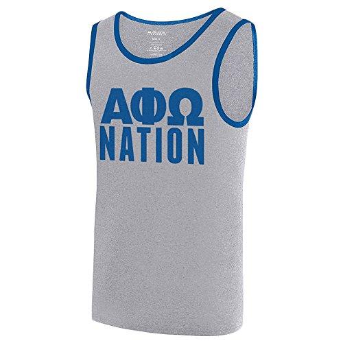 - Alpha Phi Omega Fraternity Nation Ringer Tank X-Large Athletic Heather/Royal