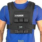 WEIGHTVEST 30 lb. V-FORCE (Black, 3-1/4 narrow shoulders)
