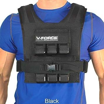 WEIGHTVEST 30 lb. V-FORCE Black, 3-1 4 narrow shoulders