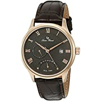 Lucien Piccard Men's LP-10339-RG-014-BRW Volos Analog Display Japanese Quartz Brown Watch