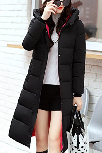 Hoodie Jacket Down Coat Pockets Lettre Women Zip Rosy Up d'amour Longline Outerwear ZwwgTqH