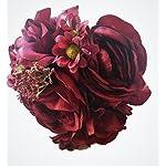 Deep-Bordeaux-Red-Silk-PeonyRanunculus-Rose-Small-Bouquet-Wine-Bridal-Bridesmaid-Nosegay-Miniature-Bride-Gift-Vase-Tabletop-Floral-Arrangements-Office-Wedding-DIY-crimson-Rouge