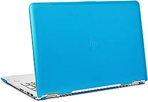 "mCover iPearl Hard Shell Case for 15.6"" HP Envy X360 15-AQxxx / M6-AQxxx Series (15-AQ173cl / m6-AQ103dx, etc) Convertible laptops (X360-15-AQ) (Aqua)"