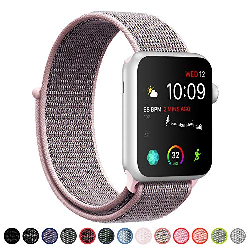 SYRE Compatible with Apple Watch Band Series 4/3/2/1 38mm 40mm 42mm 44mm, Lightweight Breathable Nylon Sport Band Replacement iWatch Series 4, Series 3, Series 2, Series 1