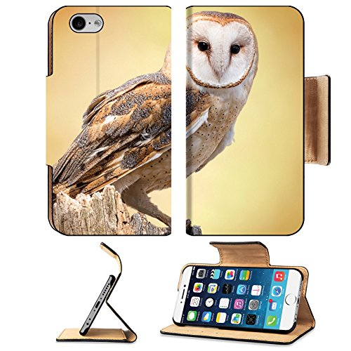 MSD Premium Apple iPhone 6 iPhone 6S Flip Pu Leather Wallet Case IMAGE ID 27944160 A barn owl perched on a dead tree stump Barn Owls are silent predators of the night world Lanky wit