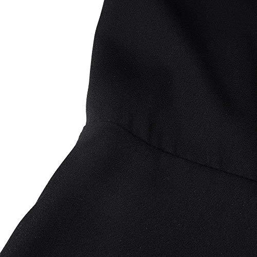 Femme Bowknot Manches Chic Et Dame V Elgante Costume avec Fashion Vintage Shirts Blouse avec Courtes Haut Cou Tops Schwarz Noir Casual Volants TIxdSZ