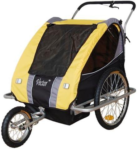 Vector - Remolque de bicicleta para niños y cochecito para correr ...