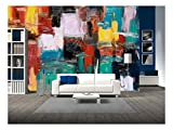 fine accent wall colours wall26 - Abstract Painting - Removable Wall Mural   Self-Adhesive Large Wallpaper - 100x144 inches