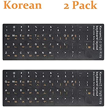 Korean Keyboard Sticker For Black Keyboard white /& orange Opaque Non Transparent