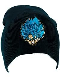 Dragon Ball Z Goku Super Saiyan Blue Beanie Knit Cap Alternative Clothing Anime