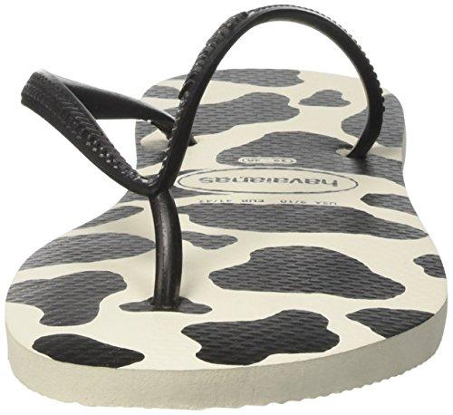Mehrfarbig Havaianas Black Zehentrenner Damen 0128 Animals White Slim nTgvOxTzq