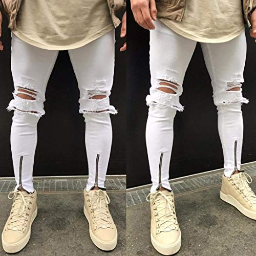 So Jeans Da Ragazzo Bianca Plus Pantaloni Size Moto Uomo Hip Hop Cool Fit Strappato Streetwear Denim Slim Vintage rdrIwZxqT