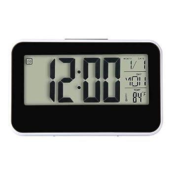 Intelligente Von Einrichtungs Digitale Led-hintergrundbeleuchtung Lcd Display Tisch Wecker Thermometer Kalender Weiß Kalender, Planer Und Karten