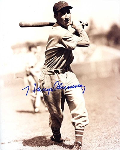 Harry Danning (D.2004) Autographed/ Original Signed 8x10 Sepia Photo Showing Him w/ the New York Giants (1933-1942) - 4x All-Star