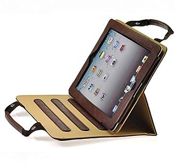 ProElite Smart Professional Bag Cover case for Apple iPad Air 2 / iPad 6  Brown   Sleep/Wake  Tablet Accessories