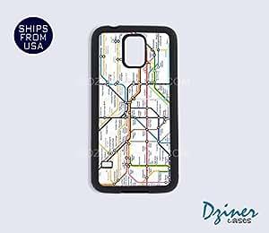 Galaxy S4 Heavy Duty Tough Case Cover - London Subway Map