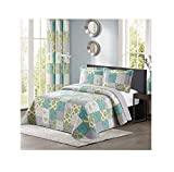 All American Collection New 3pc Printed Modern Geometric Bedspread Coverlet (Over-Sized Queen)