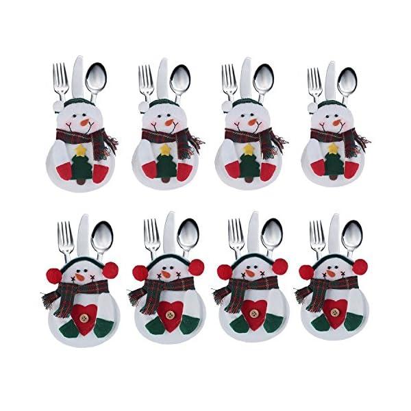Portaposate Costume da Babbo Natale, Natale, decorazione per tavolo (8pcs) 1 spesavip