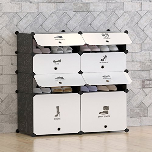 building shoe cabinet tespo 8 cube diy shoe rack multi use modular organizer storage