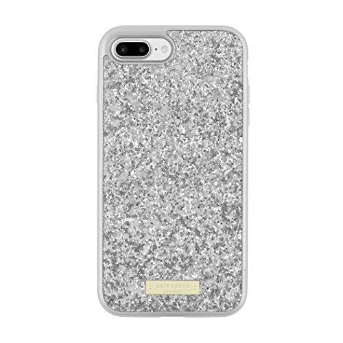 kate spade new york Glitter Case with Bumper for iPhone 7 Plus - Exposed Glitter Silver/Silver