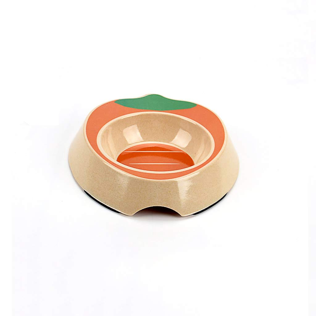 CXQ Small Dog and Cat Food Bowl Creative Cute Cartoon orange Food Bowl Cat Bowl Dog Bowl Pet Supplies